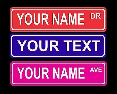 Custom personalized indoor/outdoor aluminum novelty street sign/door plaque (Custom Street Sign)