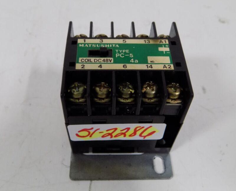 MATSUSHITA TYPE PC-5 4a COIL DC 48V CONTACTOR BMP6605901