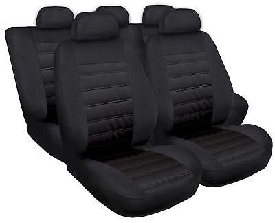 Sitzbezüge Sitzbezug Schonbezüge für Mercedes C-Klasse Schwarz Modern MG-1 Set