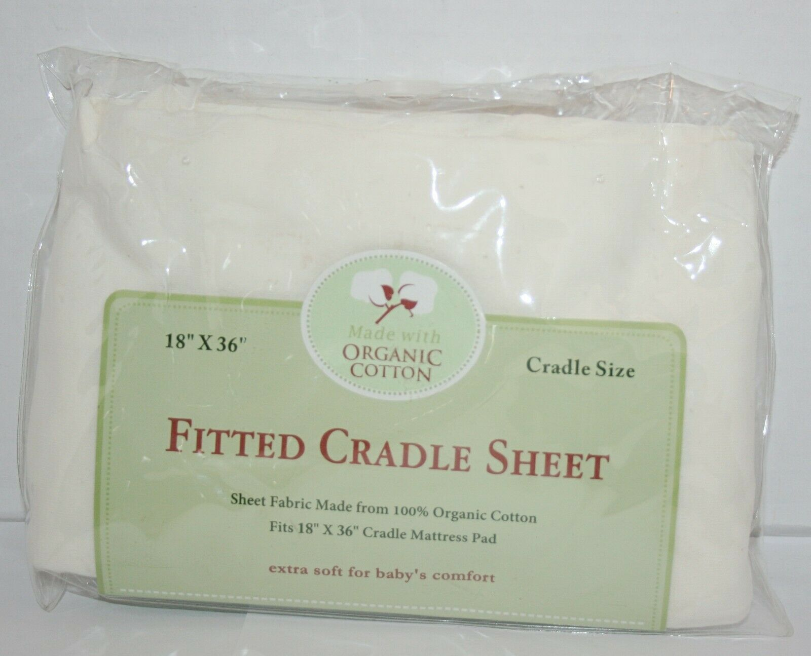 Organic Cotton Knitted Cradle Sheet