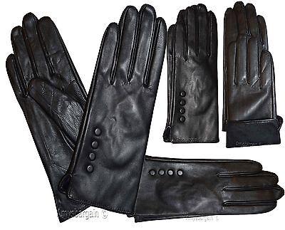 Leder Handschuhe Damen Schwarz Winter Kleid Warme