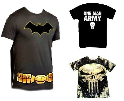 Mens' T-Shirts (Batman/Includes Cape) (Punisher One Man Army)  NWT