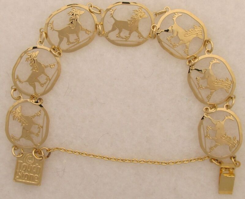Chinese Crested Jewelry Gold Bracelet by Touchstone
