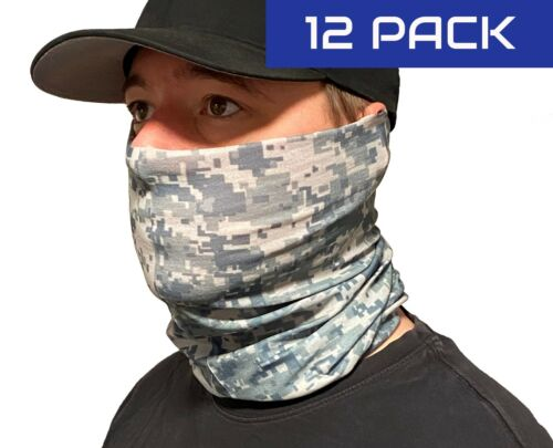 Camo Face Mask / Neck Gaitor (Pack of 12)