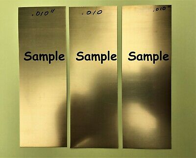 .010 Brass 260 Shim Stock - 3 Pak 2 X 6 Handy Size For Projects - Usa