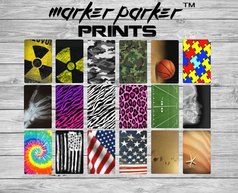 "XRAY MARKER PARKER  BADGE ""PORTRAIT""  PRINTS"