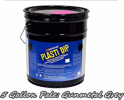 Plasti Dip Gunmetal Grey 5 Gallon Pale Bucket Ready To Spray Rubber Dip Spray