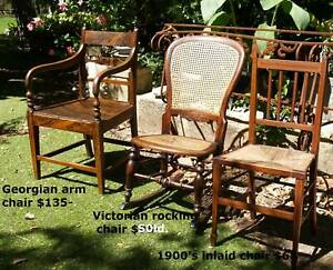 Antique and Vintage Chairs from $68 and other collectables
