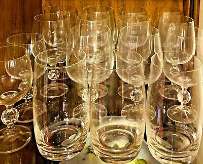 BOHEMIA CLAUDIA CRYSTAL GLASSWARE: WATER, WINE, CHAMPAGNE & OTHER GLASSES (Crystal Glassware Water Wine Glass)