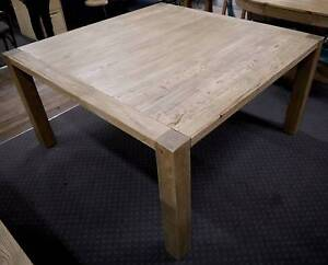 New Recycled Rustic Timber Elm Square 8 Seater Dining Tables Melbourne CBD Melbourne City Preview
