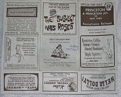 Pennsylvania Railroad Timetable October 25, 1964 Princeton & Princeton Junction