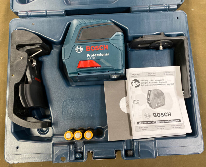 Bosch GLL 50 Professional Self-Leveling Cross-Line Laser.....FREE S&H!!!