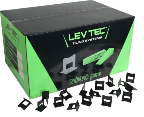 """LevTec Tile Leveling Clips 1/8"""" 2000 Count Box"""