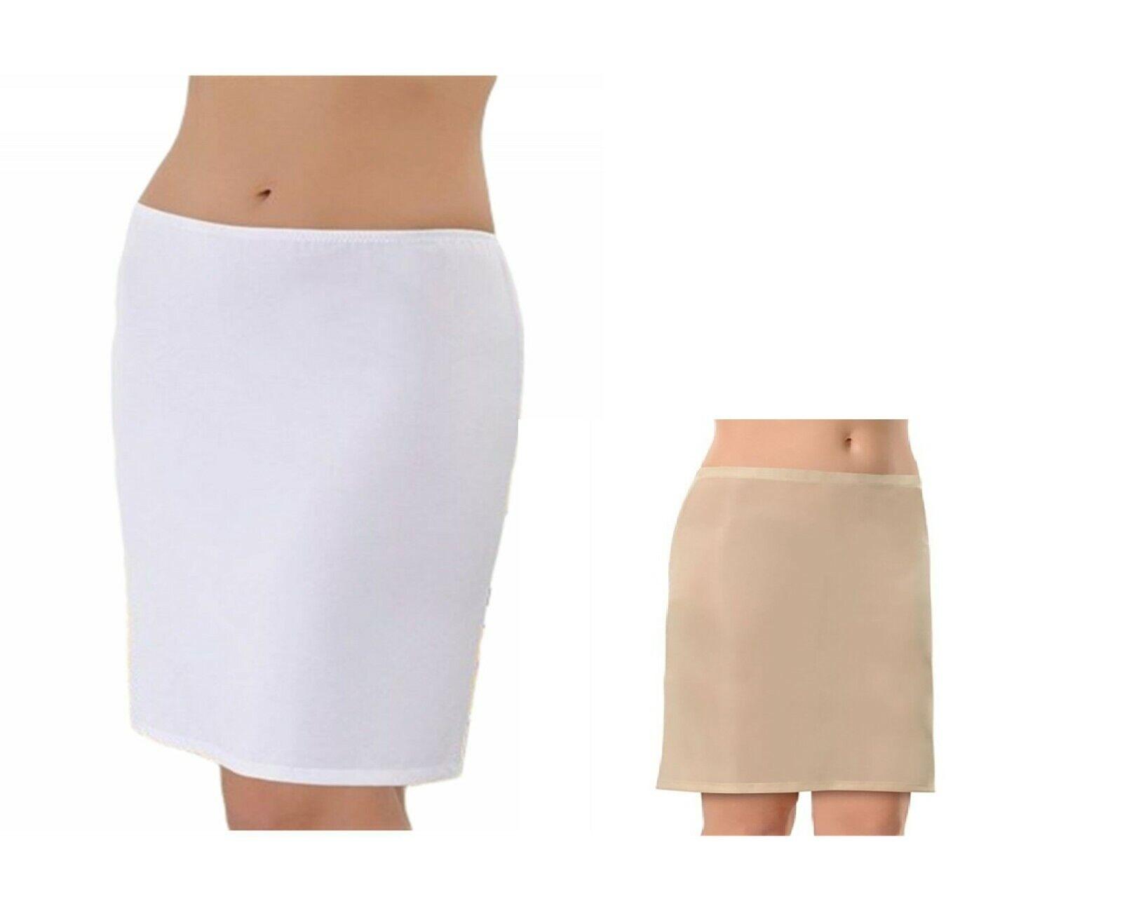 Damen Unterrock mit Gummizug Underskirt Jupon Kurz Mini Unterkleid Lingerie 2900