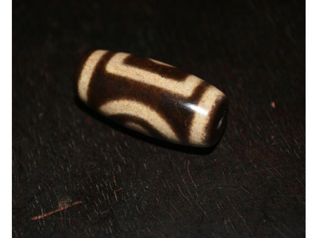 tibetan sakor namkor antique dzi bead old amulet gzi bloodspot cinnabar genuine
