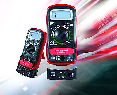 Digital Voltmeter Ohmmeter Ammeter Multimeter With Cable Testrj11rj12rj45usb