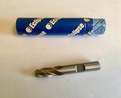 Illinois Eclipse Ball Nose Cobalt End Mill - 38 X 38s X 1 12s - 4 Fl - New