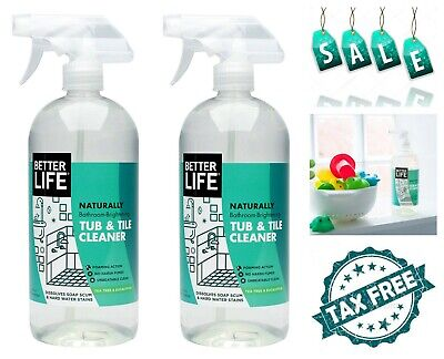 2 Pack Better Life Natural Tub and Tile Cleaner Removes Mold Mildew Stains (Best Bathroom Tub And Tile Cleaner)
