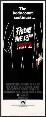 FRIDAY THE 13TH PART 2 Movie POSTER 14x36 Insert Amy Steel John Furey Adrienne