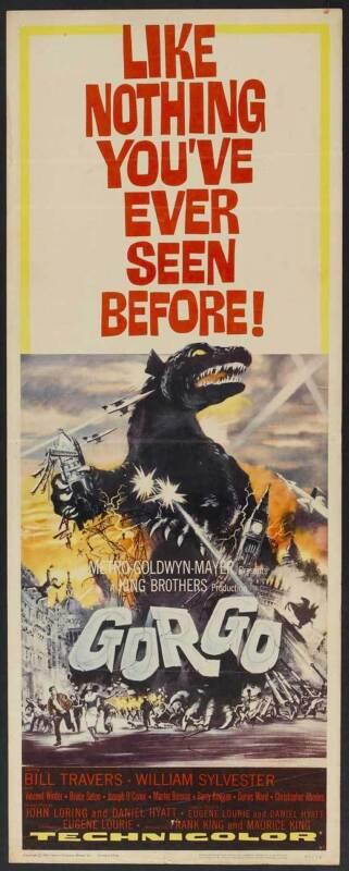 GORGO Movie POSTER 14x36 Insert Bill Travers William Sylvester Vincent Winter