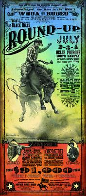 Belle Fourche Rodeo Western Poster by Bob Coronato