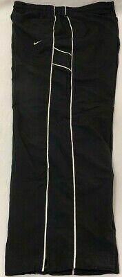 Nike Athletic Department Track Pants Mens 2XL Lined Ankle Zipper Nylon Black XXL