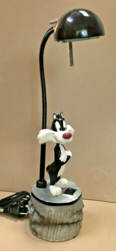 Sylvester The Cat Bobblehead Desk Lamp Vintage 1996 Looney Toons Casal Halogen