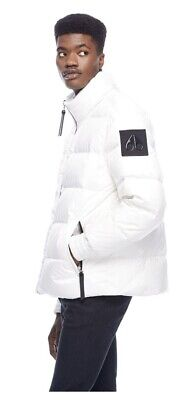 NWT Moose Knuckles Maginot Quilted Puffer White Jacket Men's Large