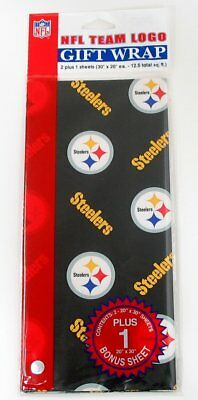 Flat Gift Wraps Paper - Pittsburgh Steelers NFL
