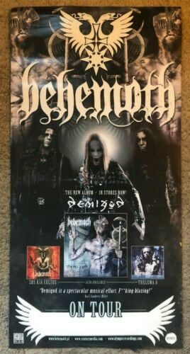 Behemoth Demigod Promo Poster *RARE* Metallica Rammstein Slipknot Gojira