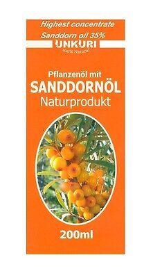 (5€/100ml), 200 ml, Sanddorn Öl, 100% Natural