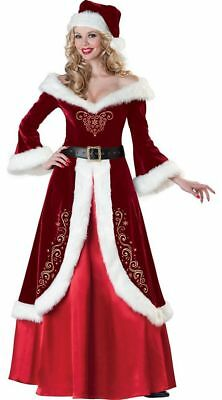 Lady Christmas Santa Claus Costume Fancy Dress Cosplay Women Party Outfit ZG8](Womens Santa Suits)