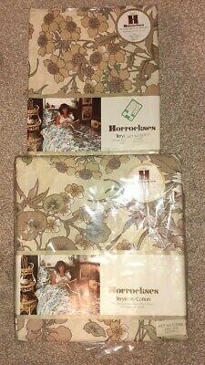 New Vintage 70's Horrockses Floral Super King Duvet Cover & x2 Pillowcases BNIP