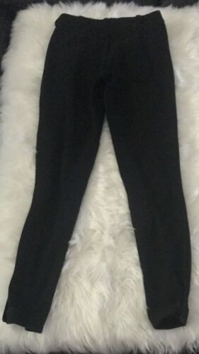 TUFFRIDER Pull On Breeches Ribb Low Rise Black Horse Riding Ankle Closure