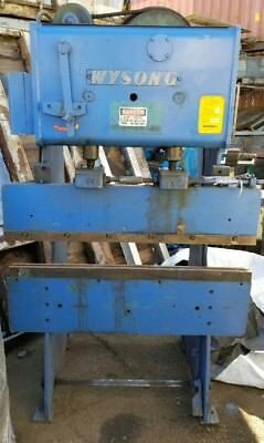 Wysong 1548 Mechanical Brake Press 15 Tons 48 Inches 4 Feet Made In The Usa