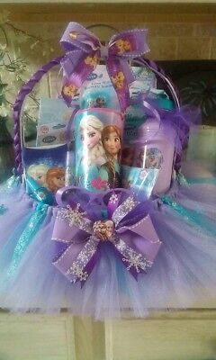 Frozen Tutu Gift Basket Made For any occasion By Norma's Unique Gift Basket (Frozen Gift Basket)
