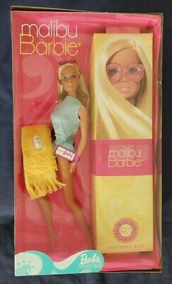 2001 Malibu Barbie Reproduction 1971 Collector Edition Doll & Keepsake Box