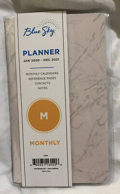 Blue Sky 2020-2021 Monthly Pocket Planner In Blush Marble 4x 6