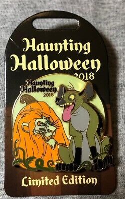 Disney Haunting Halloween Scar And Hyena LE Pin