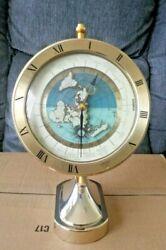 SEIKO Quartz Dateline GMT Globe World Time Desk Clock QQZ292G