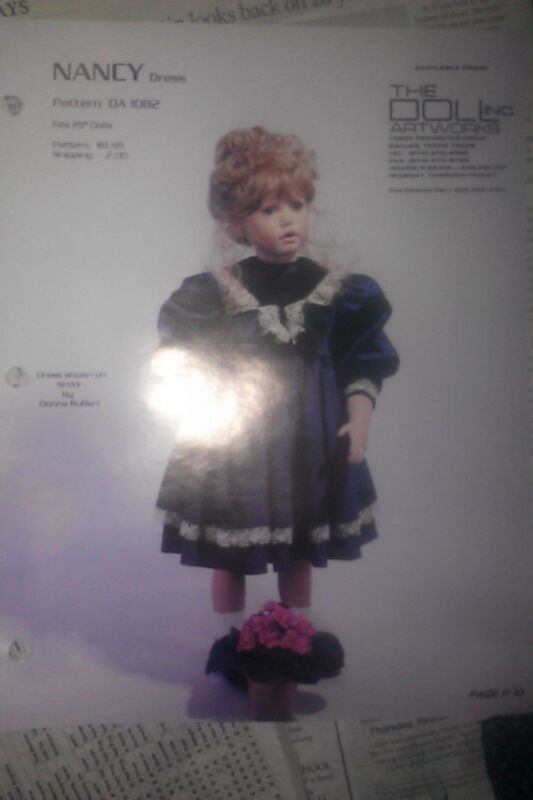NANCY DRESS PHOTO BY DONNA RUBERT Porcelain Doll HEAD FACE PICTURE SHEET