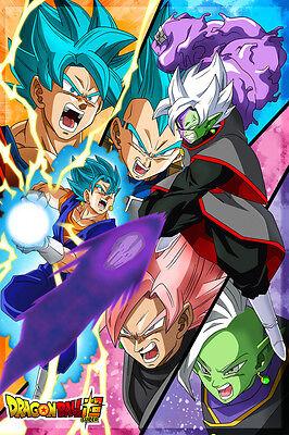 Dragon Ball Super Poster Black Goku/Zamasu Vegito Blue 12in x 18in Free Shipping