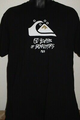 NWOT QUIKSILVER 50 YRS OF BOARDSHORTS 1969 GRAPHIC TSHIRT SIZE MENS LARGE