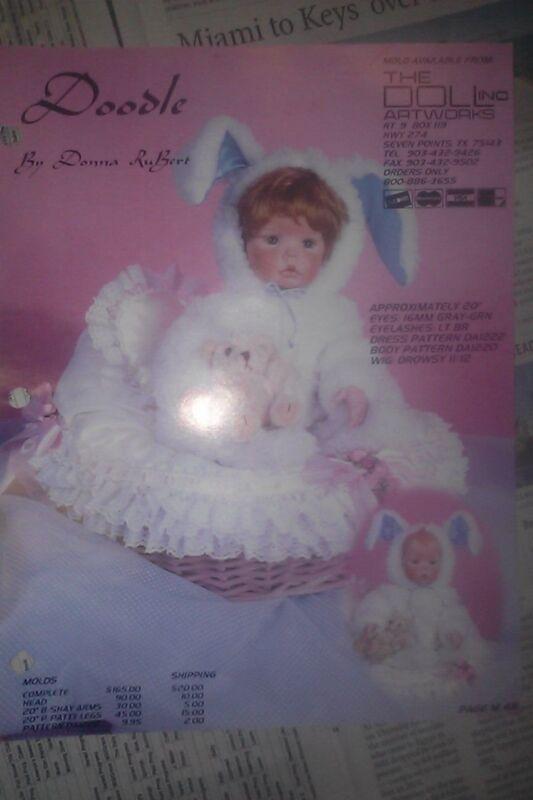 DOODLE PAINTING TECHNIQUES Porcelain Doll INSTRUCTIONS RUBERT FACE MAKEUP SHEET