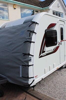 Front Caravan Towing Cover Chip Protection Universal Size C/W LED Lights & Bag !