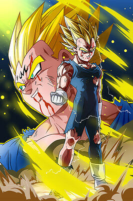 Dragon Ball Super/Z Poster Majin Vegeta 12in x 18in Free and Fast Shipping