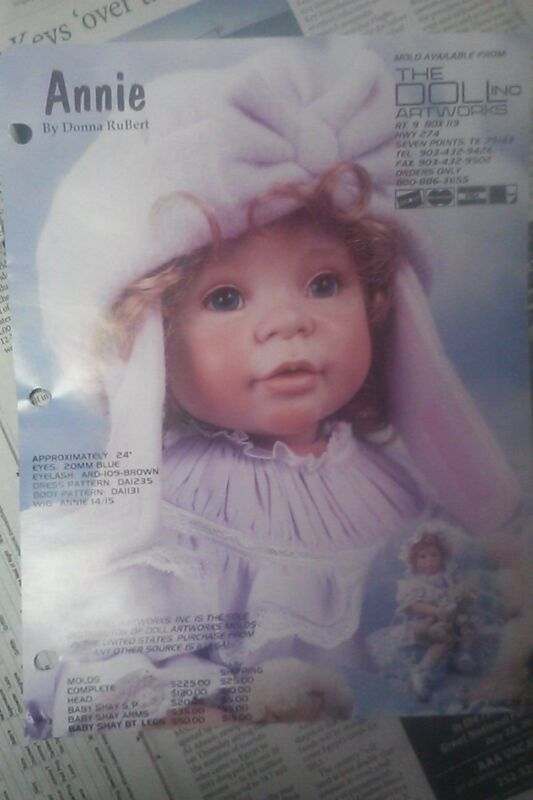 ANNIE PAINTING TECHNIQUES Porcelain Doll INSTRUCTIONS RUBERT FACE MAKEUP SHEET