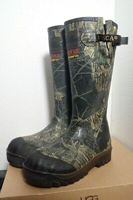 Itasca Scent Free Rubber Camo Swampwalker Boots 1000g Thinsulate Ultra Size 9 Itasca Rubber Boots