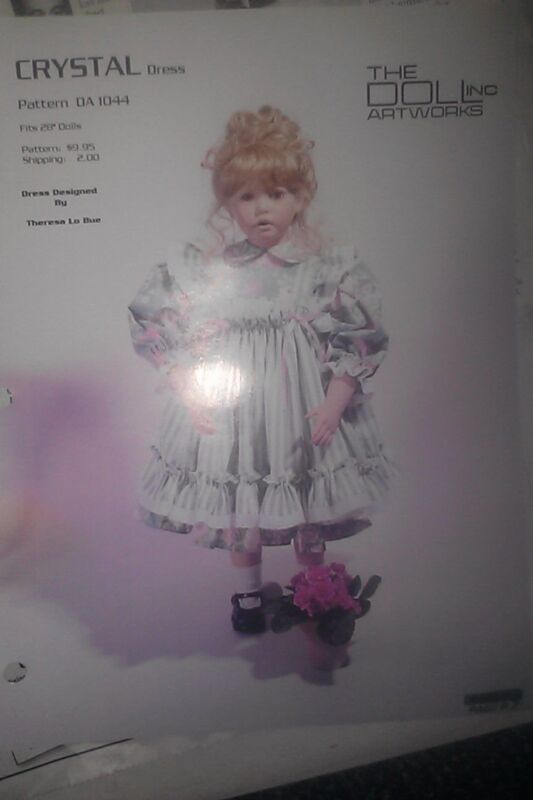 CRYSTAL DRESS PHOTO BY DONNA RUBERT Porcelain Doll HEAD FACE PICTURE SHEET