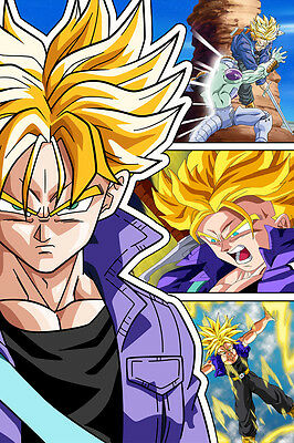 Dragon Ball Super Poster Future Trunks SSJ 12in x 18in Free Shipping